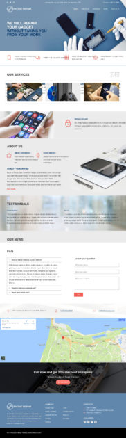 Phone Repair Mobile Cell Phone and Computer Repair Business WordPress Theme Review